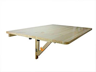 sobuy promotion 20 table murale rabattable en bois table de bonne qualit et pratique. Black Bedroom Furniture Sets. Home Design Ideas